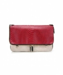 미미마끄(MIMIMAC) PIXI_Clutch Red & Beige