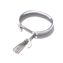 마이믹스드디자인(MY MIXED DESIGN) Metal tassel T-ring bracelet_Silver