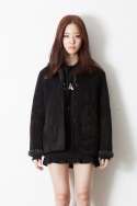 휴팟() PRINTED SHERLING JACKET