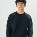 러닝하이(RUNNING HIGH) [UNISEX] MAKE YOU RAGLAN SWEAT SHIRT [BLACK]