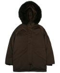 콰이트(QUITE) [콰이트] Urban Heavy Down Parka (Brown)