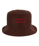 바잘(VARZAR) monday morning bucket hat brown