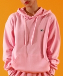 베이직코튼(BASIC COTTON) color logo hood - PINK