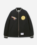 SMILEY SKATE JACKET BLACK