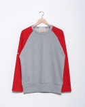 프랭크 도미닉(FRANK DOMINIC) RAGLAN HIDDEN POKET(GREY+ RED)