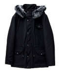 Silver Fox Fur Custom Nylon Parka