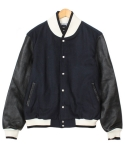 Original han Cow Leather Varsity Jacket (Navy)