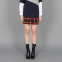 벰버(VEM.VER) FUR CHECK MINI SKIRT_NAOR