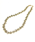 flower necklace (gold)