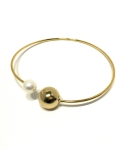 pearl  bangle necklace(gold)