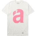 아콤플리스(AKOMPLICE) BIG BEAK TEE - WHITE/CORAL