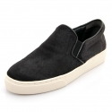 슈보니에타(SHOBONYATA) CALF HAIR BASIC BLACK SHEEPSKIN COUPLE SLIPON SNEAKERS_S5034FUR