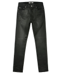 콰이트(QUITE) [콰이트] Handcoated Black Denim Pants