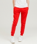 side line jogger tranning pants red