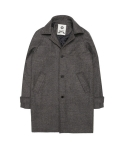 울프 Herringbone wool Single Coat (brown)
