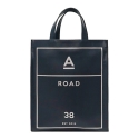 에이비로드(ABROAD) Eco Leather 2WAY Bag (navy)