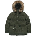 모디파이드() M#0859 winter hooded fur parka (khaki)