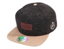 [신상할인]DA Faux Leather patch  suede bill cap