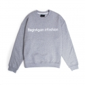 BAF_CROSS CREWNECK (GRAY)