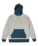 콰이트(QUITE) [콰이트] Colorant Fleece Hoodie (Gray)