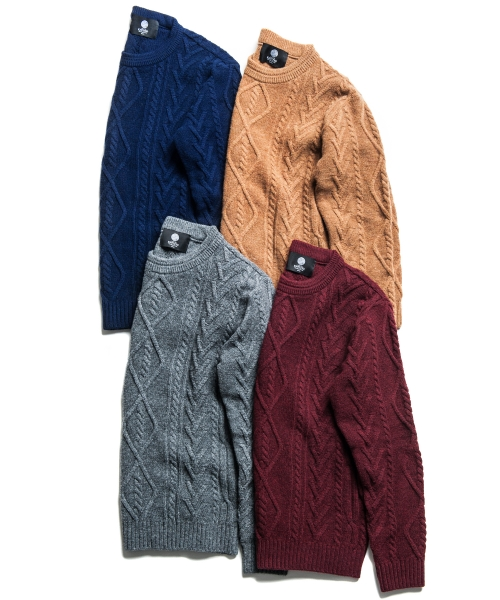 니티드(KNITTED) LAMBSWOOL STANDARD FISHERMAN KNIT