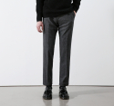 모옌() APPAREIL HOUND TOOTH WOOL SLACKS - CHARCOAL