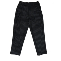 Stripe two tuck pants [stripe black]