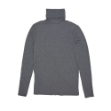 어루만질 무(MU) Zippered detail turtle neck T-shirt [gray]