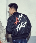 엑스톤즈(XTONZ) [XTONZ] UNISEX AIM HIGH MA-1 FLIGHT JACKET (BLACK)