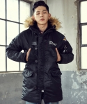 엑스톤즈(XTONZ) [XTONZ] UNISEX AIM HIGH N-3B PARKA (BLACK)