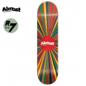 올모스트(ALMOST) [ALMOST] COLOR WHEEL BROWN R7 DECK 31.6 x 8.0