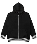 BOXY ZIPPER HOODY BLACK