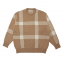 LINE CHECK KNIT_BEIGE