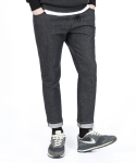 베리베인(veryvain) BT32 CROP BAND DENIM (WASHED BLACK)