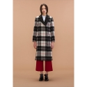 자렛() Tartan Plaid Wool Coat