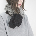 PETIT BOLD SCARF - BLACK POINT