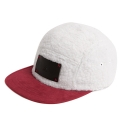 에이치이(HE) Sheep Fur Camp Cap Wine