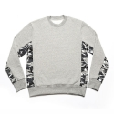 에이치이(HE) Side Camo Crewneck Sweat Gray