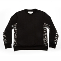 에이치이(HE) Side Camo Crewneck Sweat Black