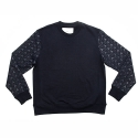에이치이(HE) Pyramid Logo Crewneck Sweat Navy