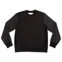 에이치이(HE) Pyramid Logo Crewneck Sweat Black