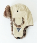 EV A Leather Warm Fur Ear Cover Cap2 (Ivory)