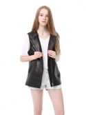 닉앤니콜(NICK&NICOLE) #B.Quilting leather Vest (Black)