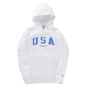 USA PULLOVER HOODY (WHITE)