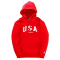 USA PULLOVER HOODY (RED)