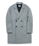 인사일런스(INSILENCE) LYDIAN OVERSIZE DOUBLE COAT (LIGHT GREY)