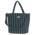 르버앤코(REVER&CO) QUILTING SHOPPER BAG CHECK GREEN