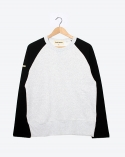 프랭크 도미닉(FRANK DOMINIC) RAGLAN HIDDEN POKET(WHITE GRAY+ BLACK)