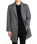 Herringbone solid coat