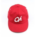 ohhioh Oh red leather strapback